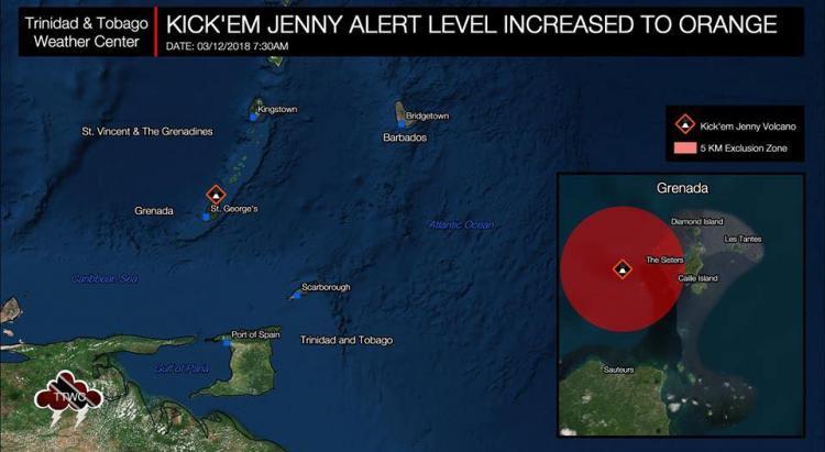 Alerte orange : le volcan sous-marin de Grenade -Kick em' Jenny - s'active à nouveau