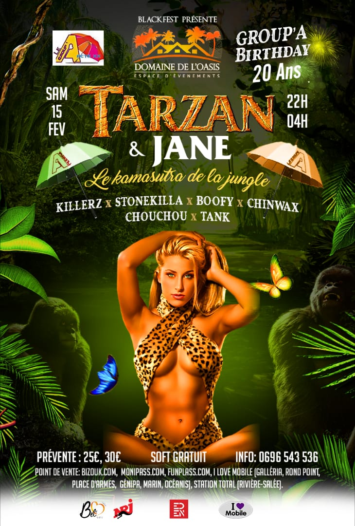 TARZAN ET JANE - Le Kamasutra de la Jungle